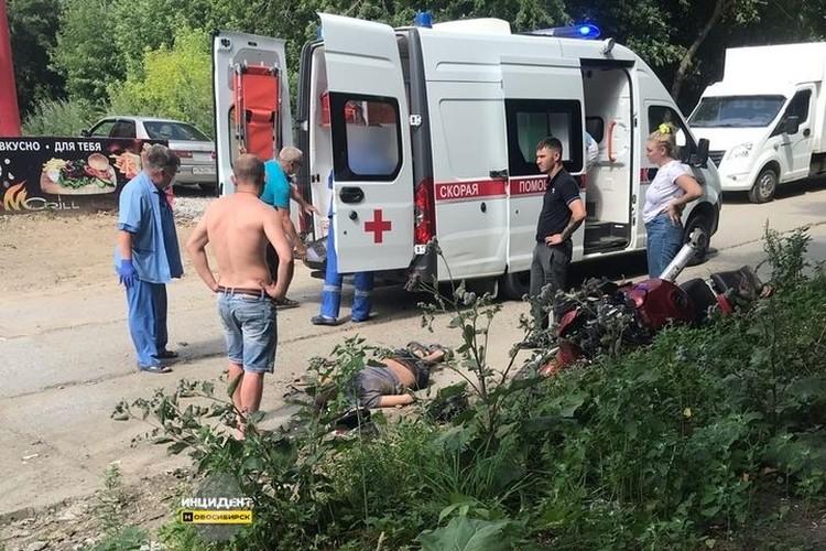Очевидцы рассказали, что пострадавший был в сознании, но не мог пошевелиться. Фото: «Инцидент Новосибирск»