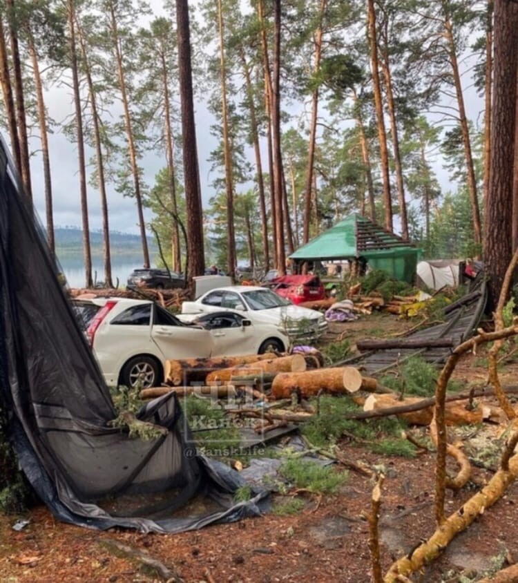 Лагерь на озере Маслеево