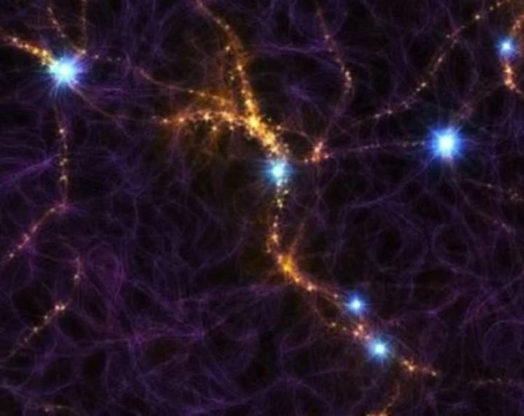 """Вспышки и помогли """"разглядеть"""" нити, протянутые между галактиками."""