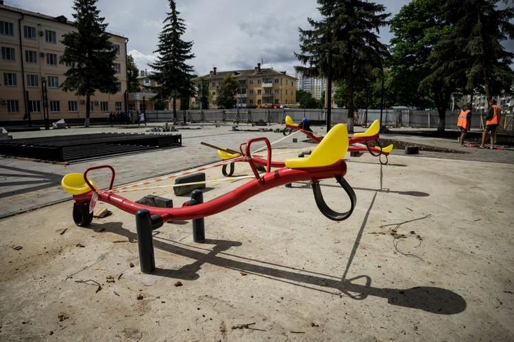 В сквере Героя Ермолаева в Орле появится детская площадка
