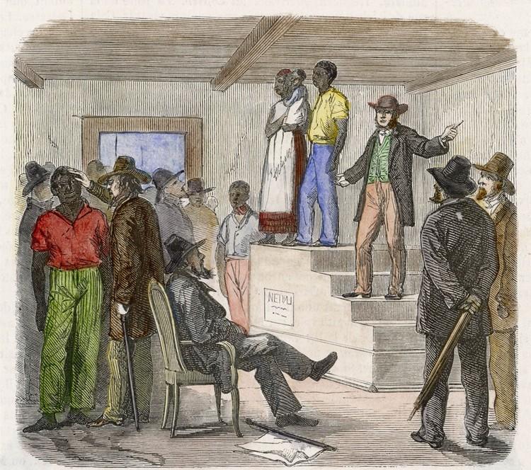 Рабовладельческий рынок в Америке 1860 год