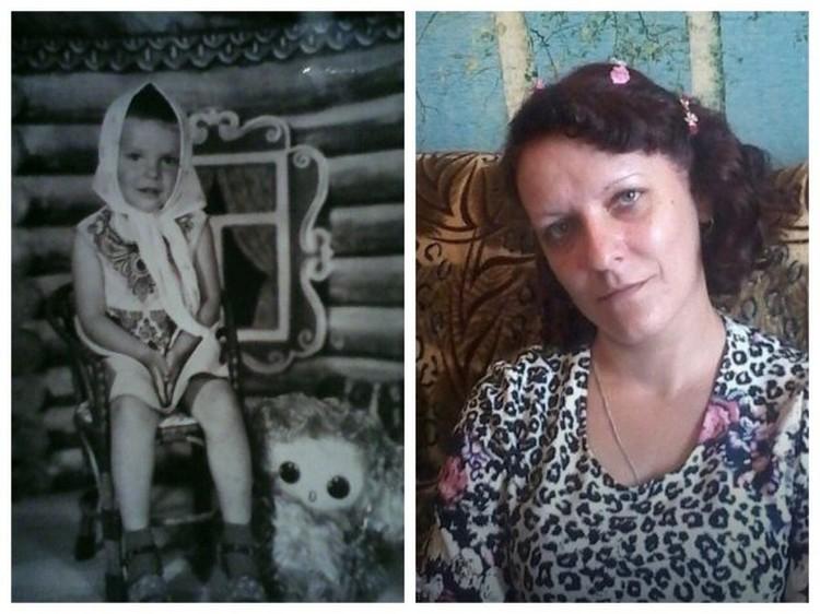 Татьяга Боксорн - в детстве и сейчас. Фото: Сибкрай.ру