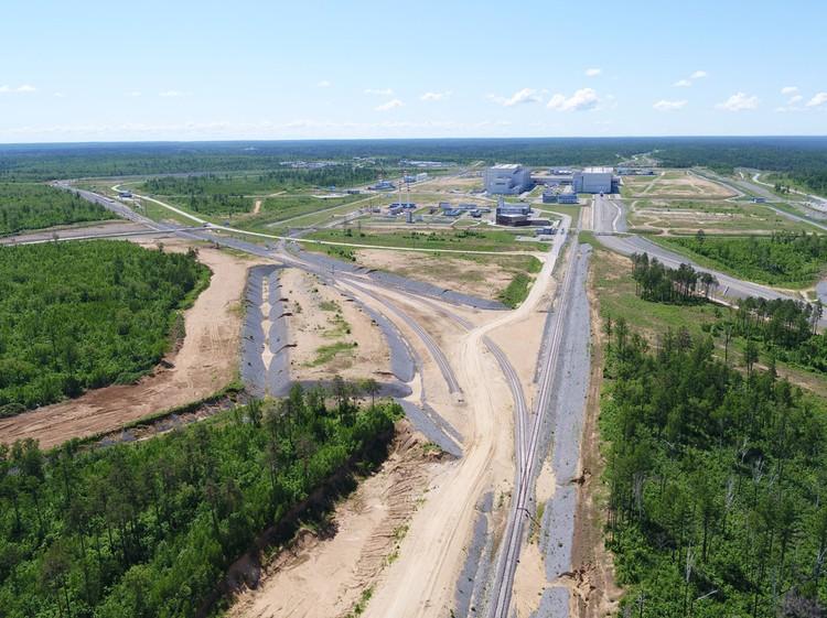 Вид на Космодром Восточный.