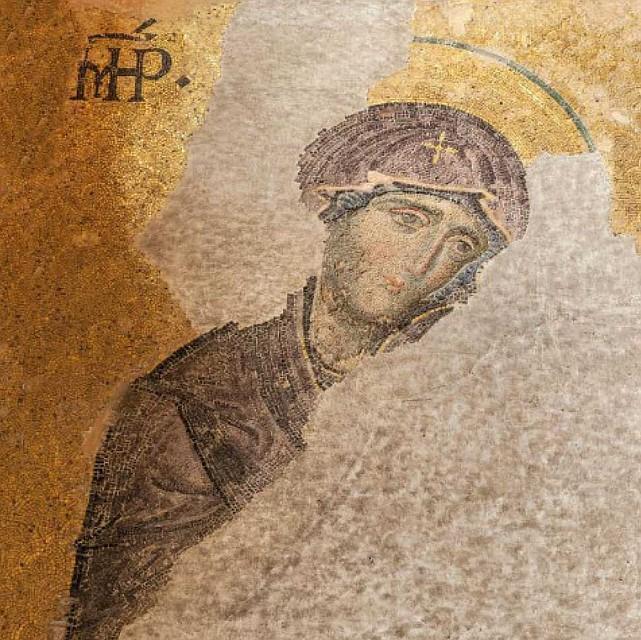 Уникальные мозаики Айя-Софии: Дева Мария, вторая половина XIII века. Фото: GLOBAL LOOK PRESS