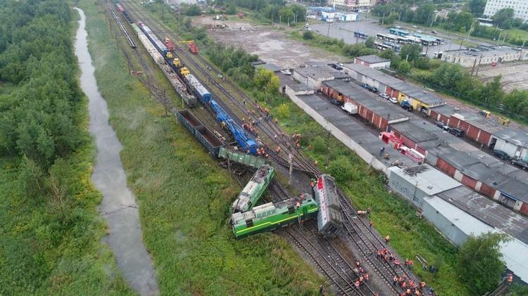 По этой ветке пассажирские поезда не ходят Фото: МЧС Петербурга