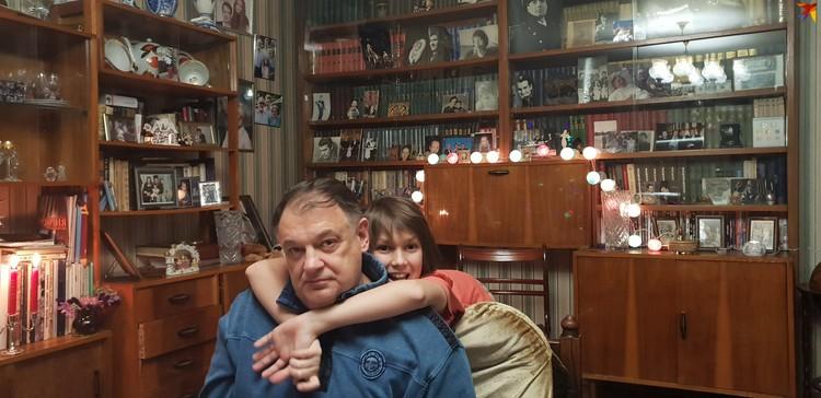 С сыном Иваном.