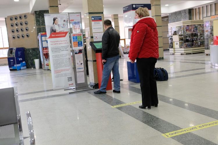 В период пандемии в здании челябинского вокзала были соблюдены все требования по недопущению распространения коронавирусной инфекции. Фото: пресс-служба ЮУЖД.