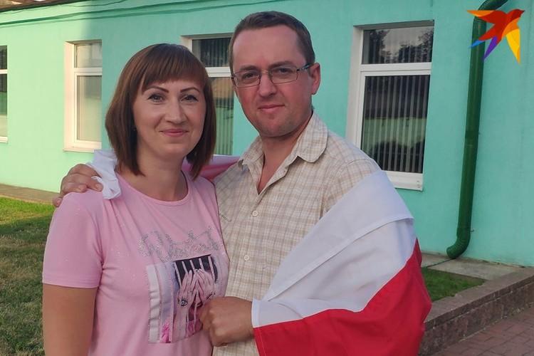 Молодые супруги приехали в Березу, чтобы поддержать Светлану.