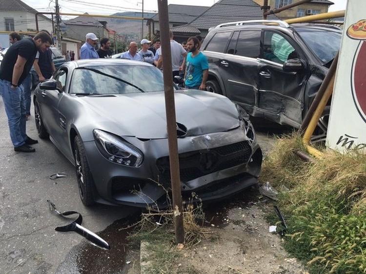 Mercedes-AMG GT S после аварии