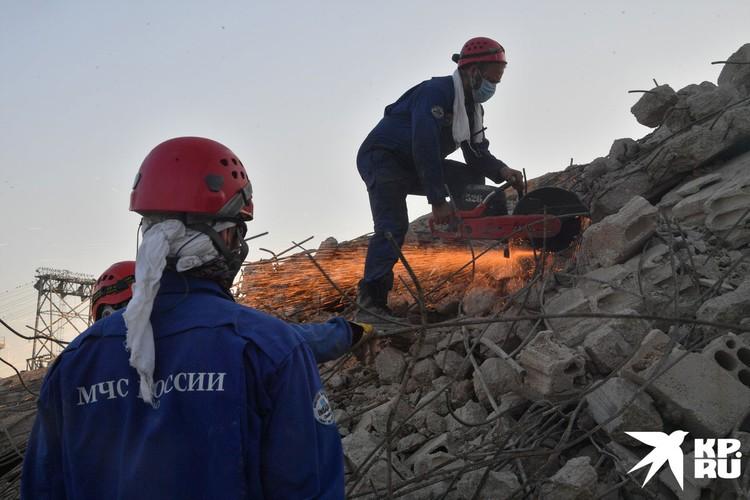 Поисково-спасательные работы в Бейруте завершены, аварийно-спасательные работы продолжаются