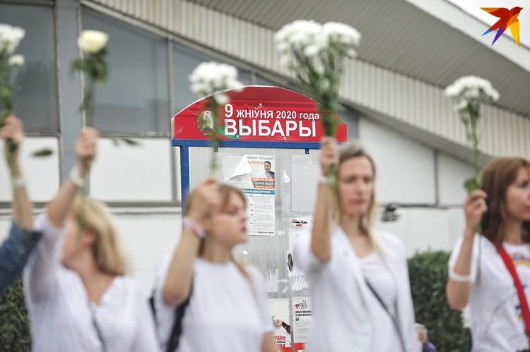 Сотни женщин пришли на митинг против насилия на ночных митингах.