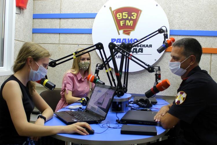 Андрей Шмидт на радио «Комсомольская правда». Фото: пресс-служба Росгвардии