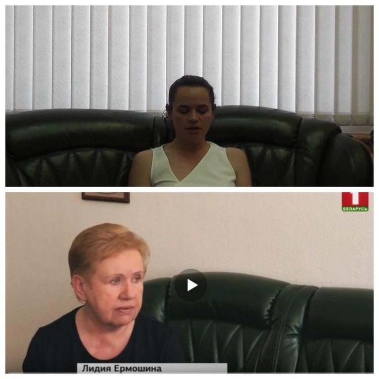 Диван в обращении ихановской и в интервью Ермошиной