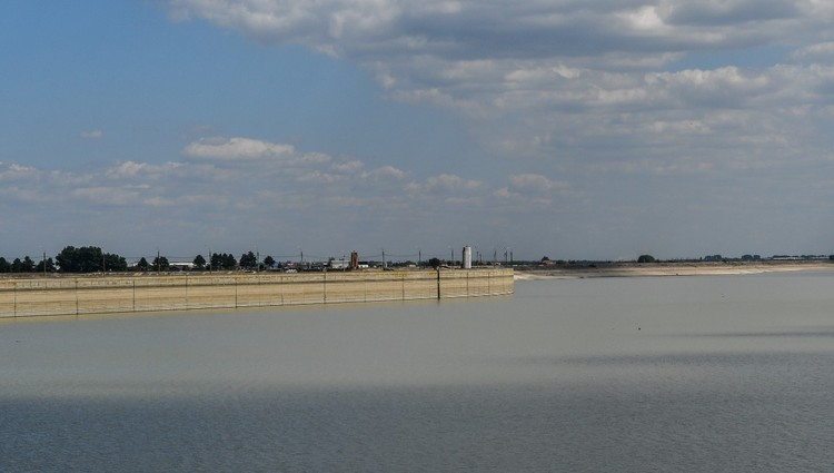 Краснодарское водохранилище обмелело