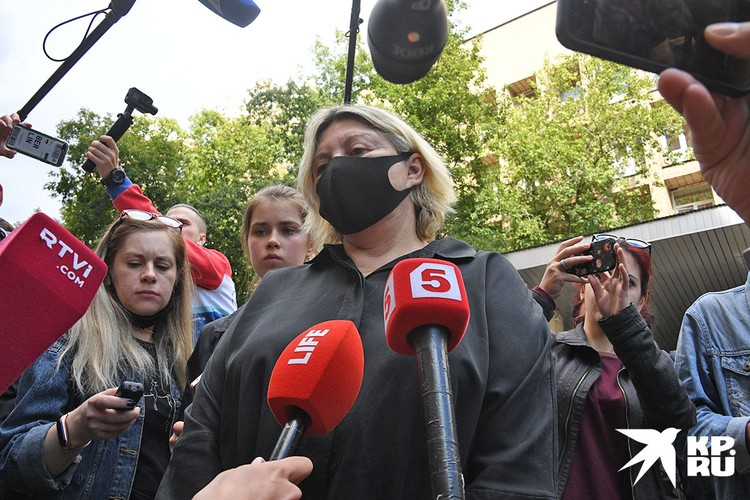 Татьяна Беркович отвечает на вопросы журналистов
