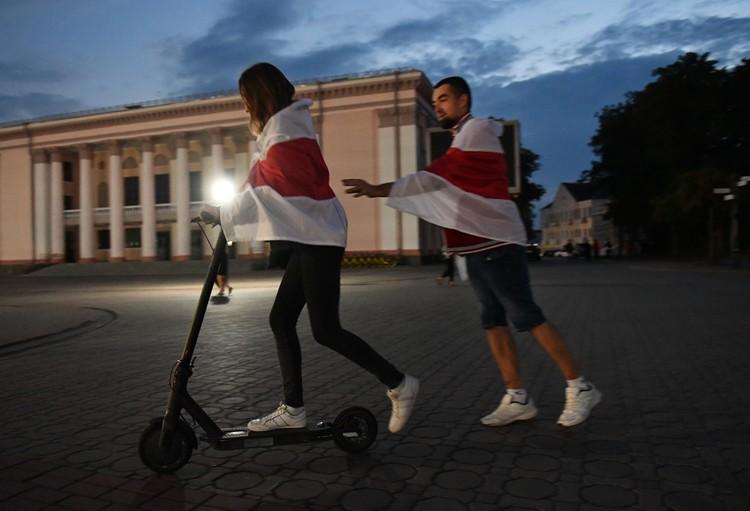 Молодежь, несмотря на то, что в Гродно было много задержанных прямо на улицах, ничего не боится.
