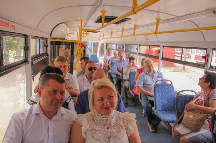 Трамвай комфортный и безопасный
