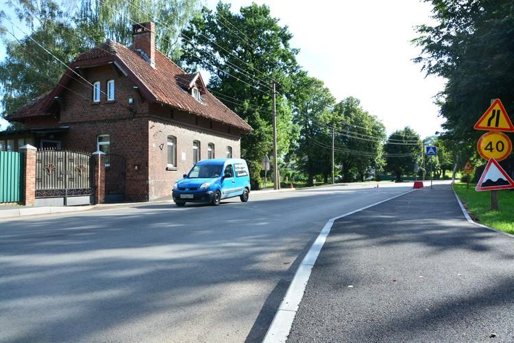 Часть дороги Советск-Гусев уже привели в порядок.