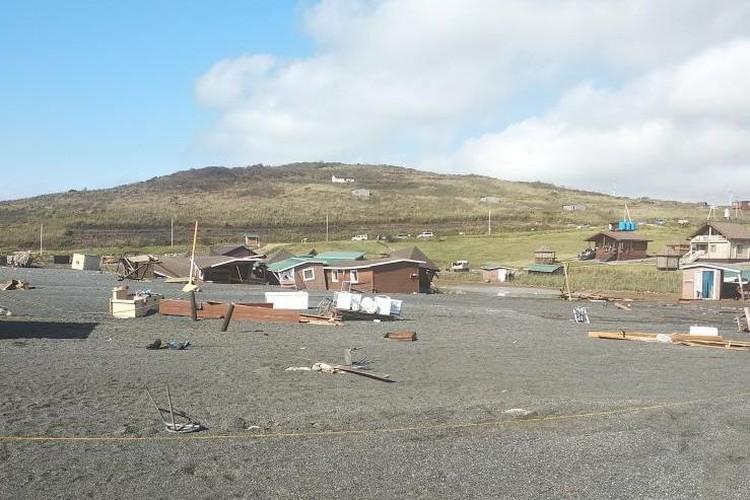 Домики на побережье затопило. Фото: anna_vereina
