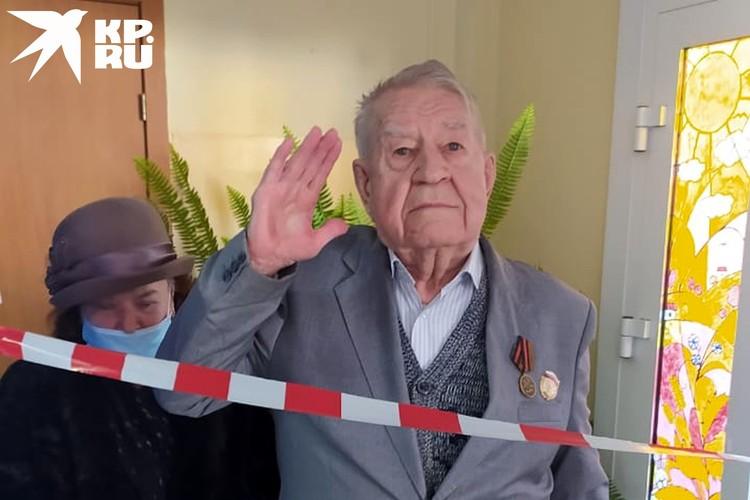 91-летний ветеран войны - Федор Степанович Коновалов. Фото: Наталья МИХАЛЕНКО.