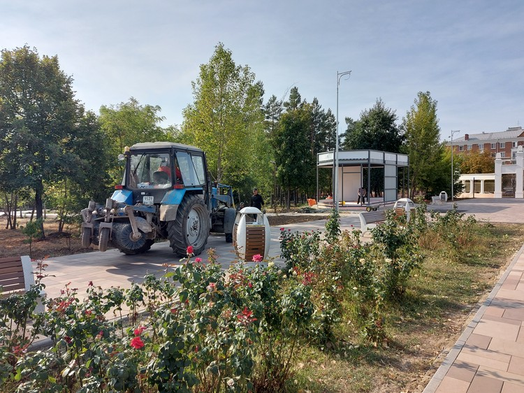 Пока по всему городу борятся с ларьками, в парке Гагарина их наоборот устанавливают.