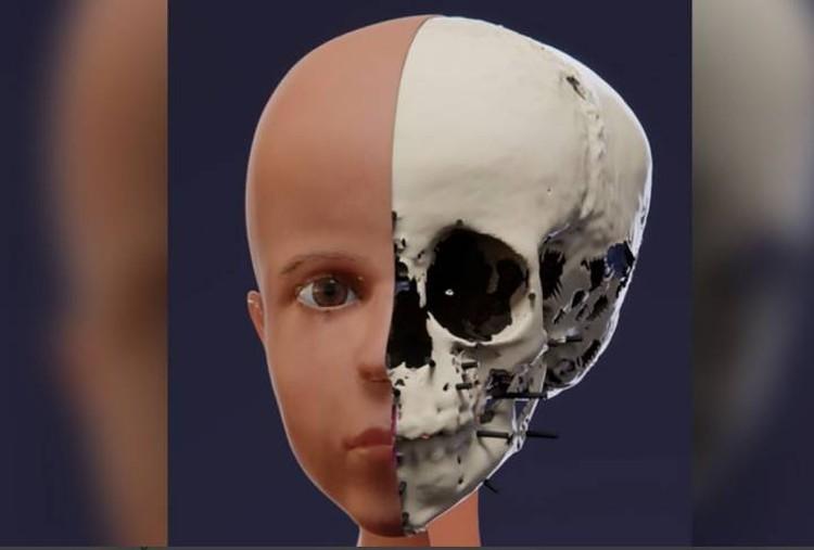 Ученые восстановили лицо мальчика, получив трехмерное изображение его черепа.