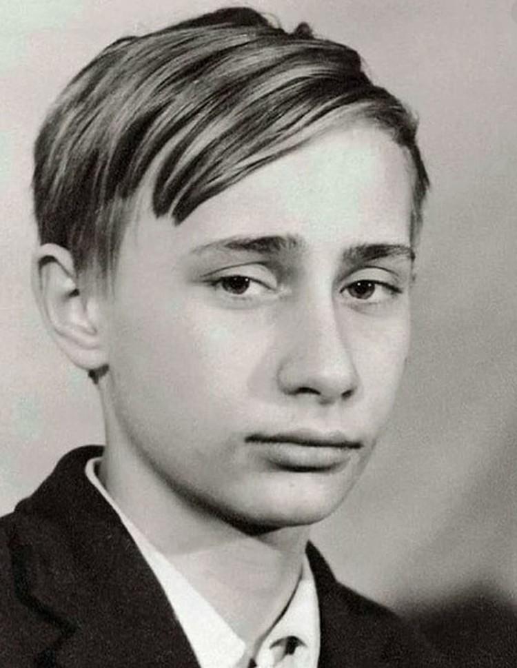 Володя Путин в школе.
