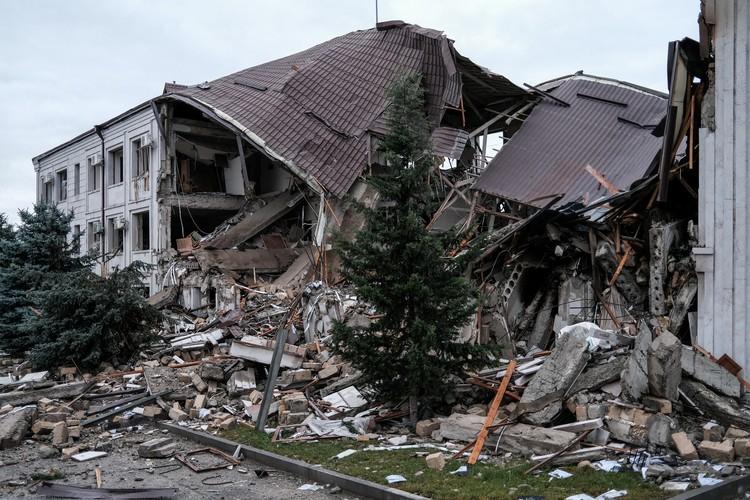 Руины домов в Степанакерте
