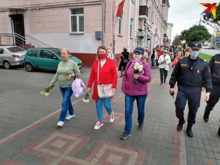 Марш пенсионеров в Гомеле.