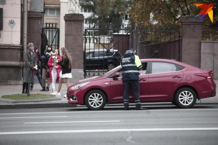 Некоторых водителей, которые сигналили участникам марша, останавливала ГАИ