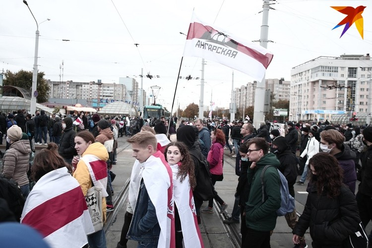Протестующие дошли до Серебрянки.