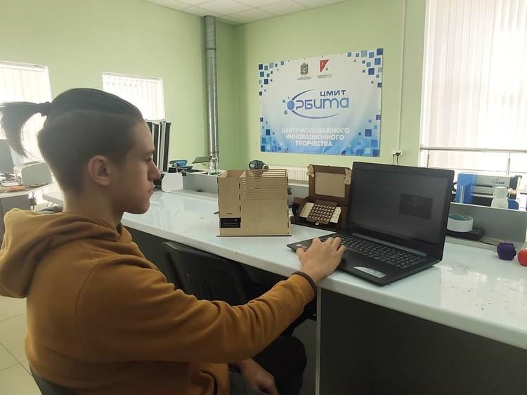 "Никита Сидоркин в ЦМИТ ""Орбита"", где учится. Фото: cmit_orbita"