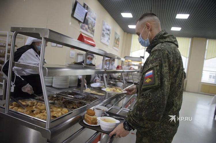 Столовая военного городка в Екатеринбурге.