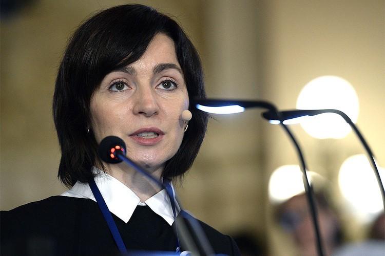 Кандидат на пост президента Молдовы от партии «Действие и солидарность» Майя Санду.