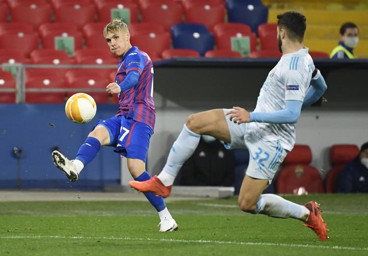 Москвичи набрали 2 очка после 2 туров Лиги Европы.