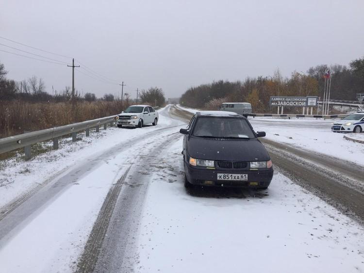 Не все водители были готовы к непогоде. Фото: отдел пропаганды ГИБДД по Ростовской области.