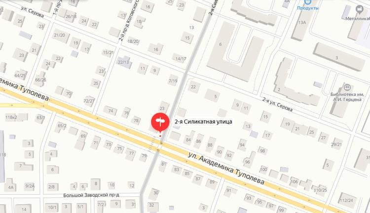 Туполева – 2-ая Силикатная. Графика: yandex.ru/maps