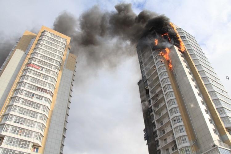 Пожар на Шахтеров. 2014 год