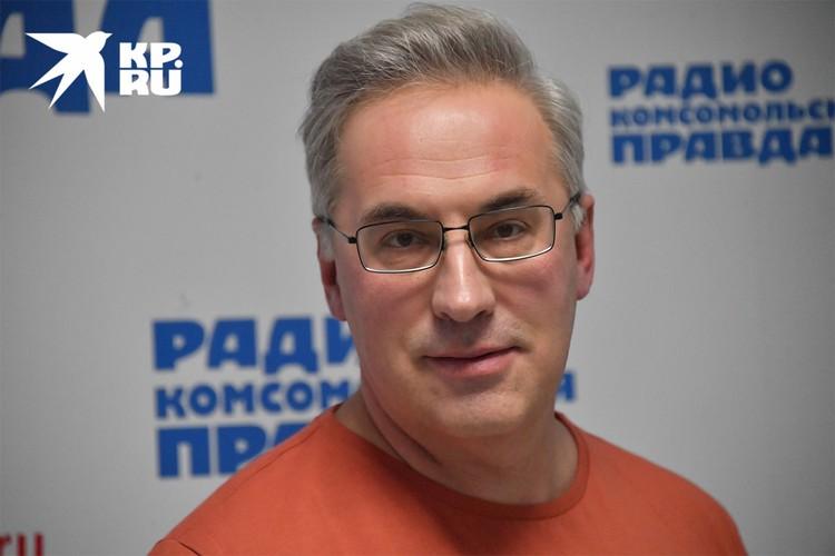 Андрей Норкин на радиостанции `Комсомольская правда`.