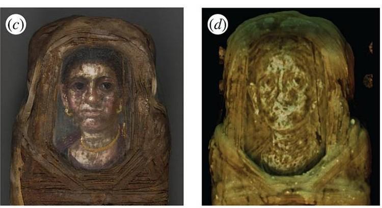 Портрет, нарисованный на саркофаге девочки. Фото: royalsocietypublishing.org