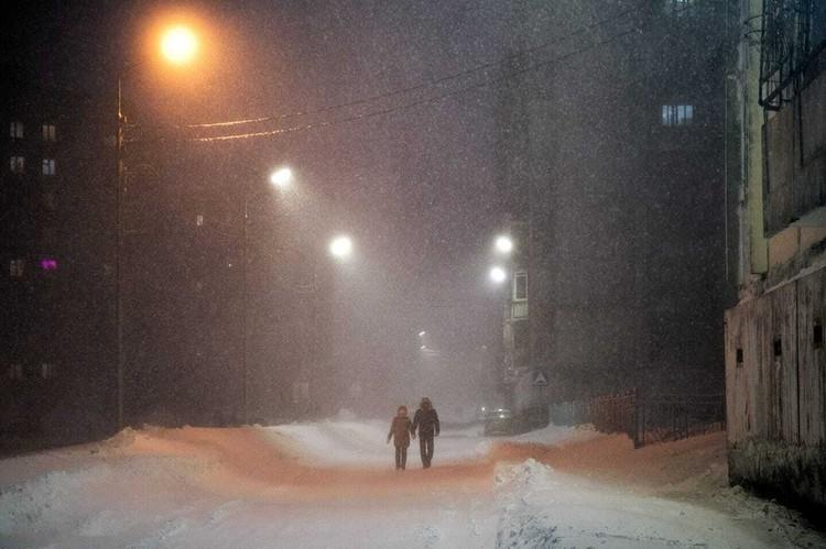 Снегопад не прекращался четыре дня Фото: Типичный Норильск