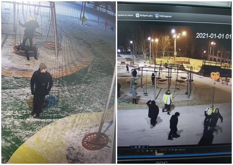 Хулиганов засняла камера видеонаблюдения. Фото: пресс-служба администрации Магнитогорска