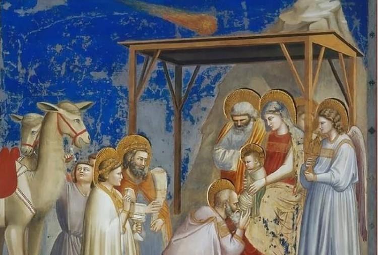 На картине Джотто в виде Вифлеемской звезды изображена комета Галлея, которую художник видел лично.