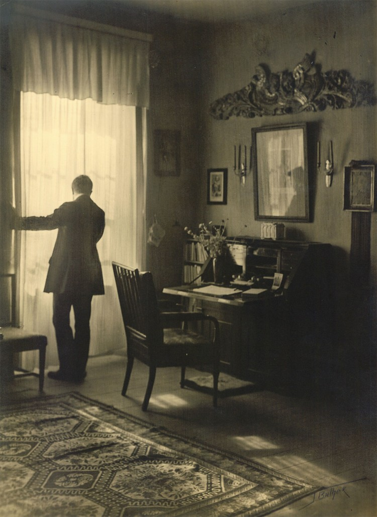 Рущиц в своем кабинете в Богданово. 1911. Фото: Ян БУЛГАК (artmuseum.by)