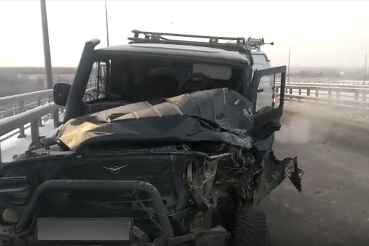 Водитель УАЗа попал в больницу.