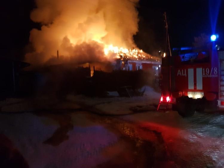 Площадь пожара составила 80 квадратных метров. Фото: предоставлено героиней публикации