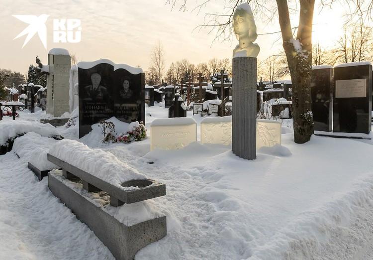 У могилы Народной артистки России Любови Полищук.