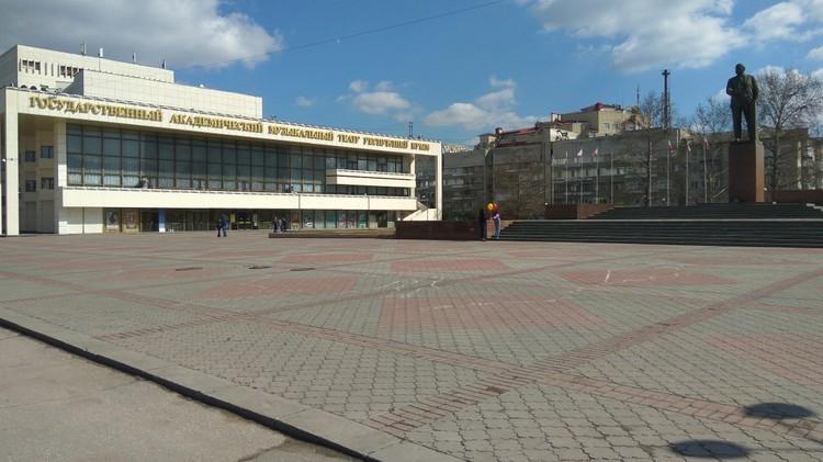 Нынешняя площадь Ленина, по мнению симферопольцев, выглядит пустой. Фото: администрация Симферополя