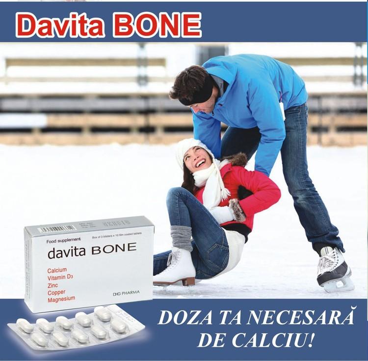 davita BONE – необходимая комбинация для коррекции дефицитных состояний кальция (Ca) и витамина D3, для профилактики и комплексной терапии остеопороза.