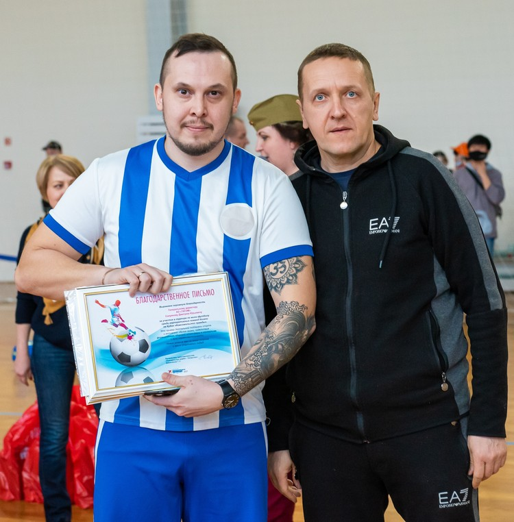 Награждение команды АО «Татэлектромонтаж». Фото: Алексей СПИРИДОНОВ